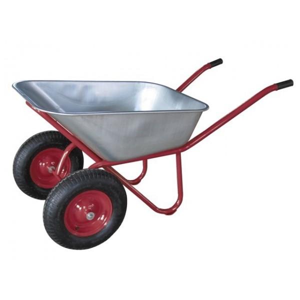 Тачка строительная 1-колеса 100л/190кг (красная) с пневм. кол. WB 191S (4,00-8) TSUNAMI