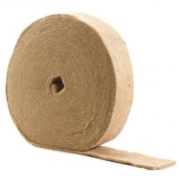 Лента джутовая (пакля) для прокладки между бревен 0,8*150*20м (прошитый)