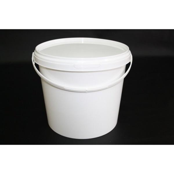 Ведро белое с крышкой 1.5л
