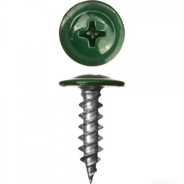 Саморез прессшайба острые 4,2/19 RAL-6026 Опаловый зелёный
