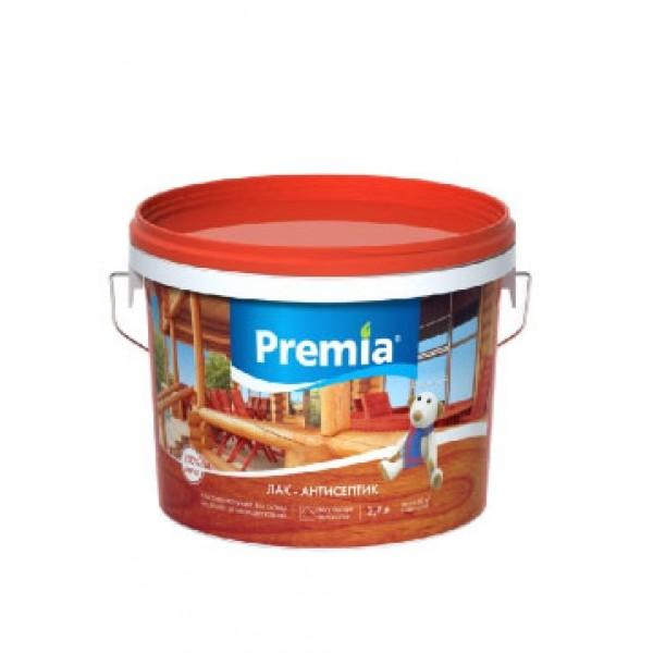 Лак-антисептик PREMIA рябина, ведро 0,9 л
