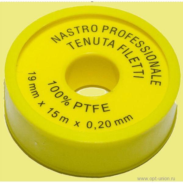 Лента ФУМ 15м*19мм*желтая большая
