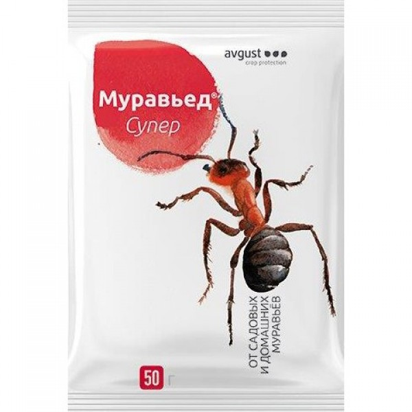Инсекцыды Средство от садовых муравьев МУРАВЬИН 50гр