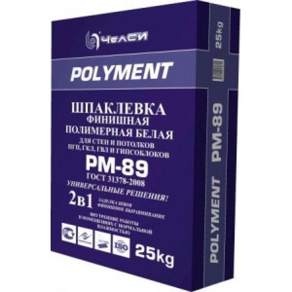 ЧелСИ Шпаклевка полимерная финишная белая POLYMENT PM-89 25кг
