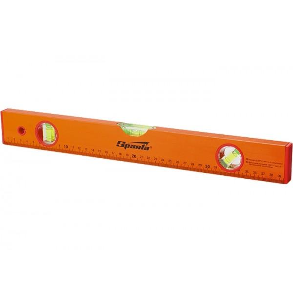 Уровень алюминиевый, 600 мм, 3 глазка, желтый, линейка// SPARTA