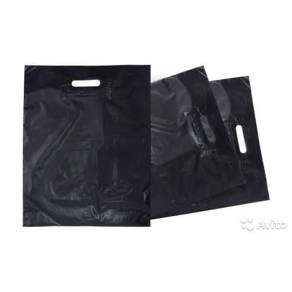 Пакет черный большой WWW 43+20*39