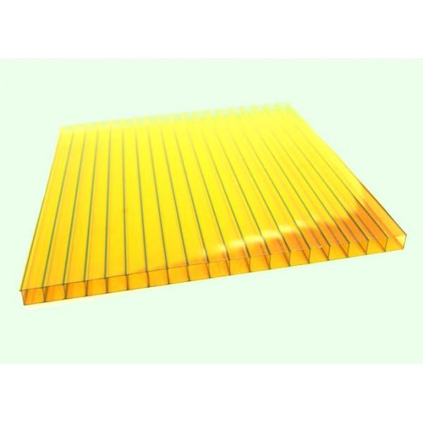 Поликарбонат желтый 6000х2100 4мм