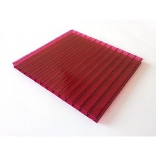 Поликарбонат бордовый (гранатовый) 6000х2100 4мм