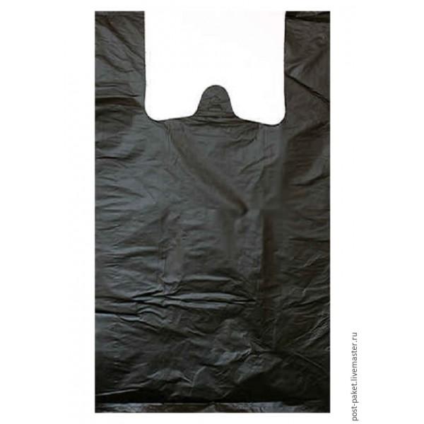 Пакет-майка п/э 38+23х68=17 черн