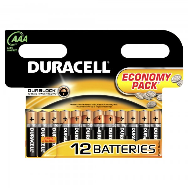 Батарейка DURACELL LR03  (12 ААА)  ЦЕНА ЗА 1ШТ