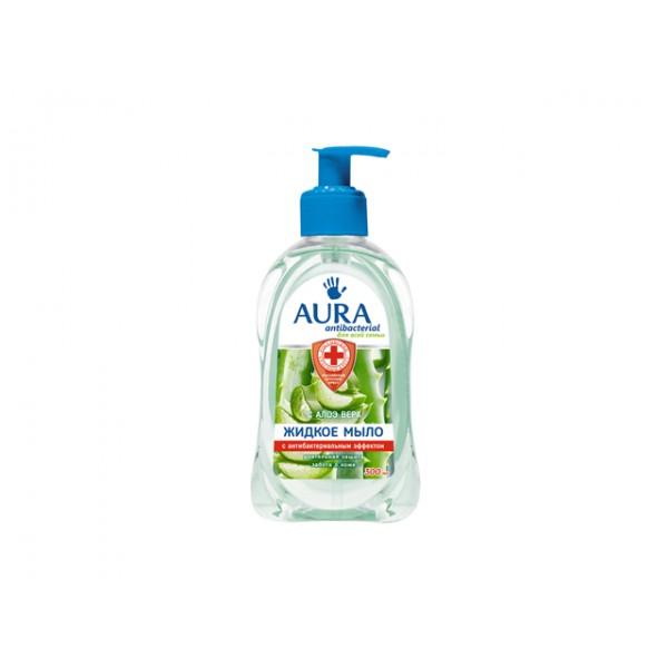 """Жидкое мыло  """"AURA"""" антибактериальное с алое 300 мл"""