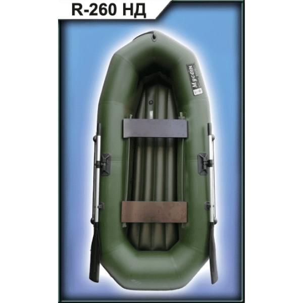 Лодка ПВХ R-260ND с веслами