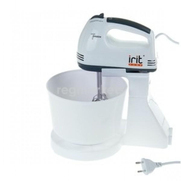Миксер эл. IRIT IR-5434 (150Вт, вращ. чаша 2л, 2 насадки, 7 скоростей, турбо режим)