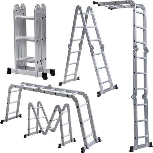 Лестница трансформер 4*4 (4 секц. 4 ст.) длина секции 1,21м, общ. длина 4,56м  вес 14,15кг UFUK PRO
