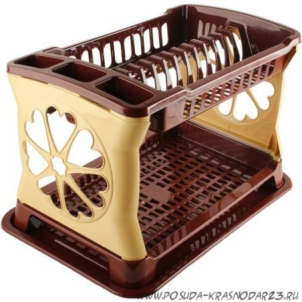 Сушилка для посуды ЛИДИЯ двухярусная цвет в ассортименте