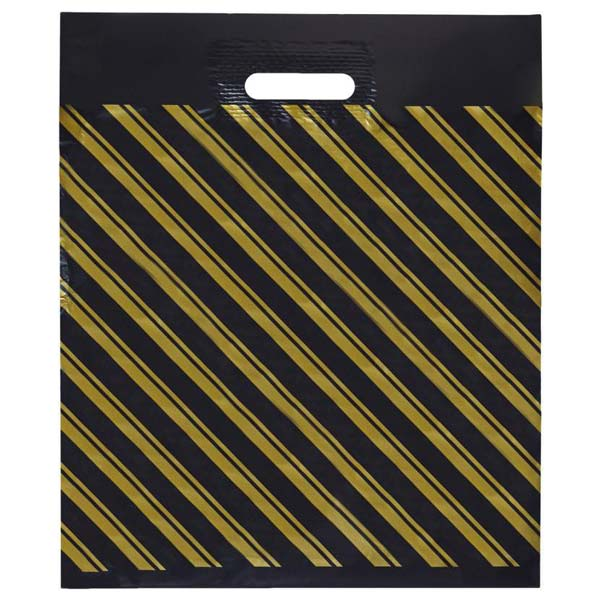 Пакет ПВД Черный с проруб.ручкой 40х50