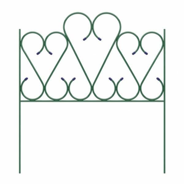 """Заборчик садовый """"Амур"""" комплект 5шт (высота 0,42м; ширина 0,76м; длина 3,8м; d 10мм)"""