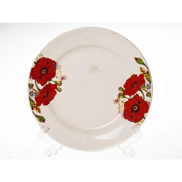 Тарелка 200мл Красные маки