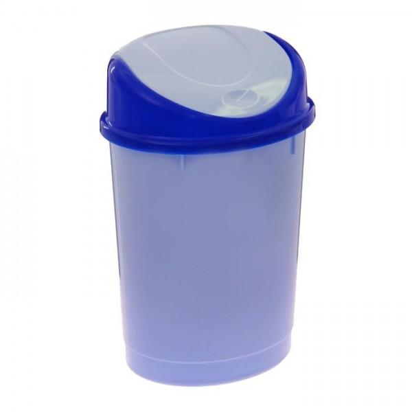 Контейнер для мусора 12л. (овальный)(голубой) м1374