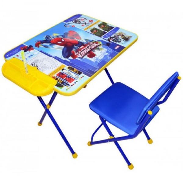 Стол + стул с мягк. сиденьем Человек Паук Д2Ч