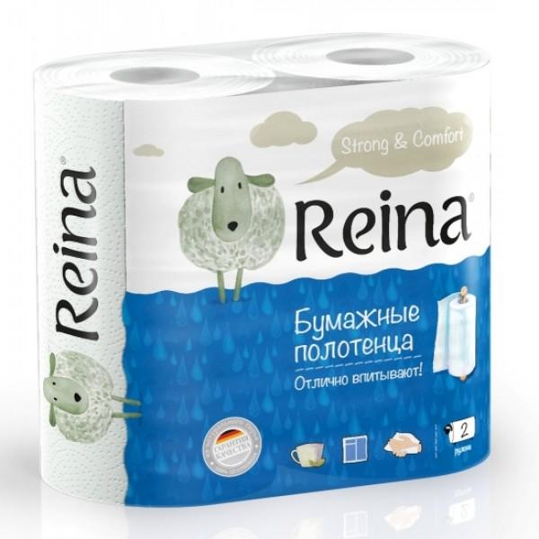 Бумажные полотенца Reina 2-сл 2шт