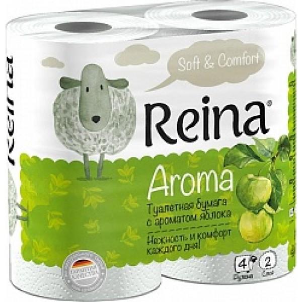 Туалетная бумага Reina Яблоко 2-х сл. 4шт