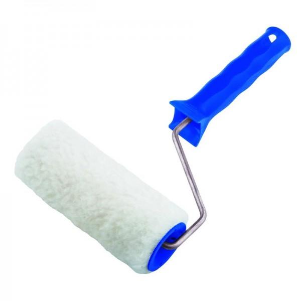 Валик искусственный мех 100мм с ручкой, D - 48 мм, ворс 15 мм, D руч. - 6 мм // СИБРТЕХ