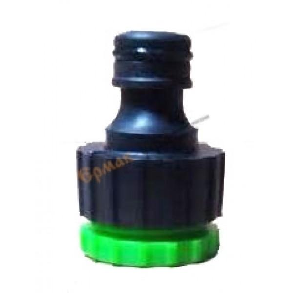 """Адаптер-фитинг """"1/2-3/4"""" пластиковый,  для соеднения  гибких поливочных шлангов 50/500"""