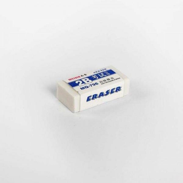 Ластик прямоуг-й, белый, мал. (520-Е40)  упак 13*10*4см   /40/2400