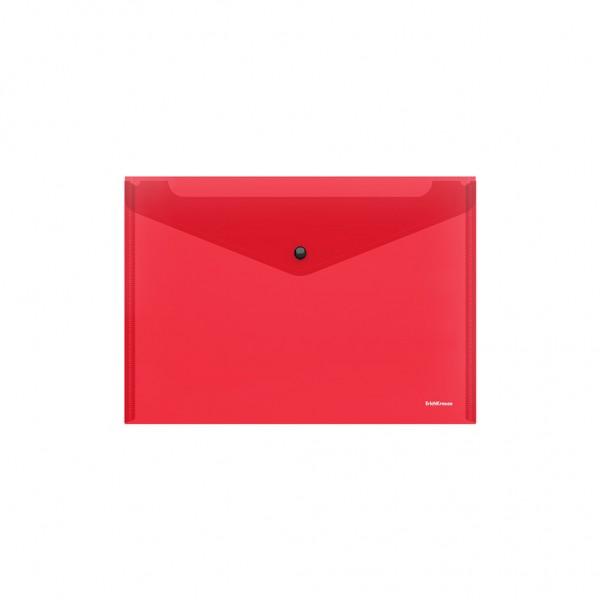 Папка-конверт на кнопке (16мкр) 35*25см   /12/1200