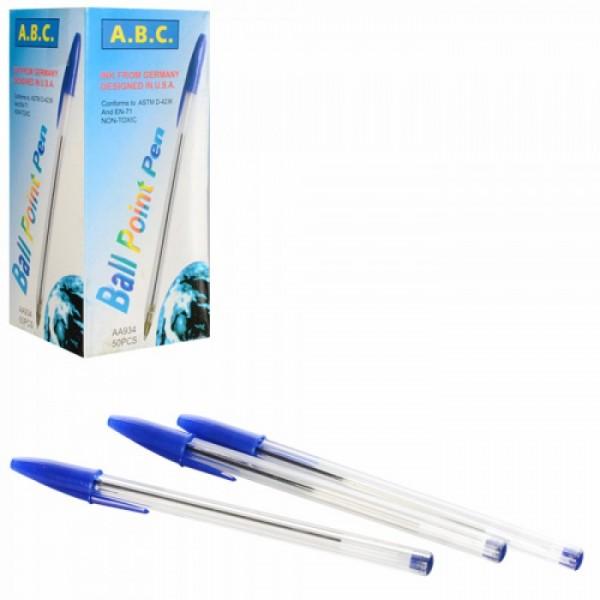Ручка шариковая, синяя АВ-934 h=14,7см упак 15*7*7см /50/4000