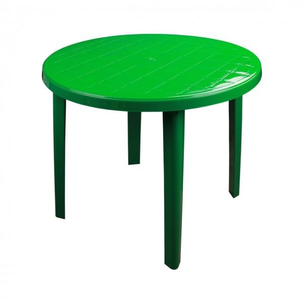 Стол круглый 900*900*750 зеленый (Альтернатива) м2666 /1