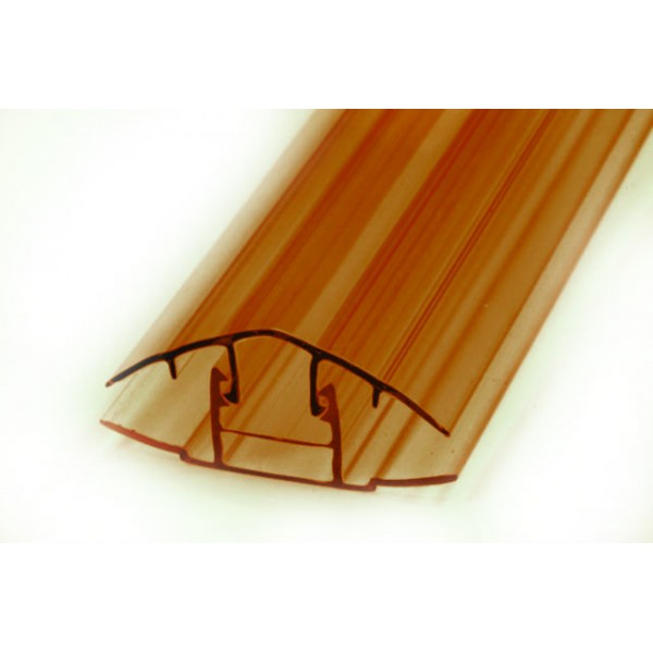 Профиль соединительный крышка НСР 6-10мм L=6м (Коричневый)