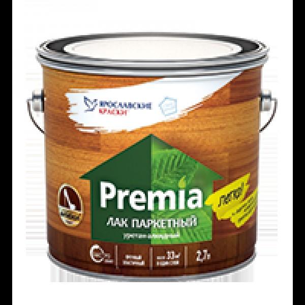 Лак PREMIA паркетный полуматовый 2,7