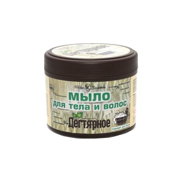 Мыло жидкое густое НК300мл Дегтярное для тела и волос