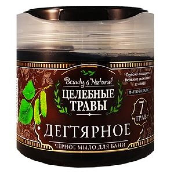 Мыло жидкое для бани Целебные травы 400мл черное мыло