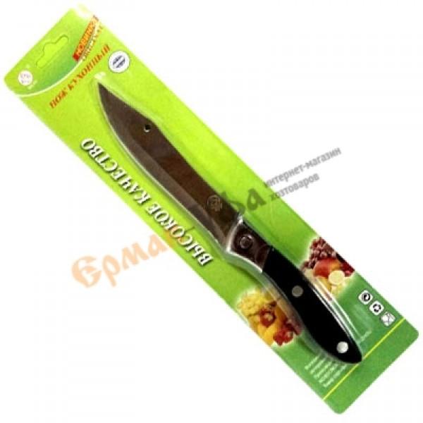 Нож SILIU С 2С кухонный поварской длина лезвия 11см, углеродистая сталь, карболитовая ручка /1/360