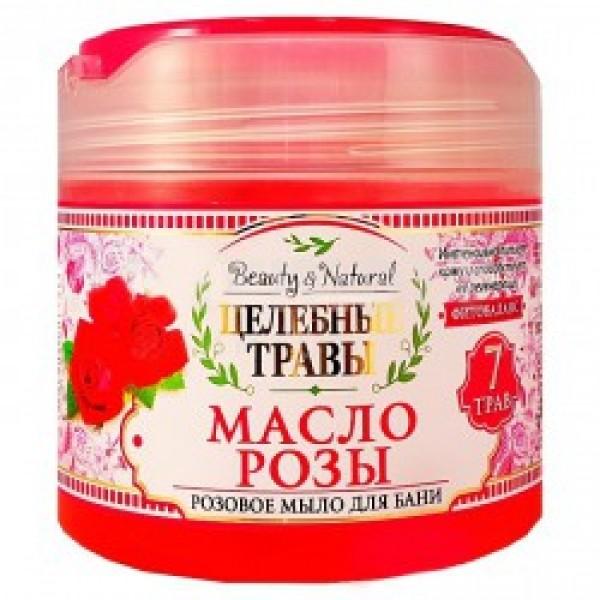 Мыло жидкое для бани Целебные травы 400мл Розовое мыло