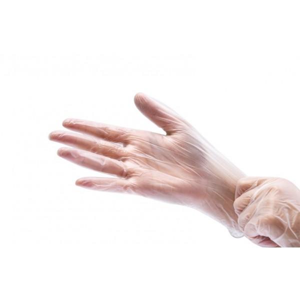 Перчатки виниловые L неопудренные цена (1уп-50пар)
