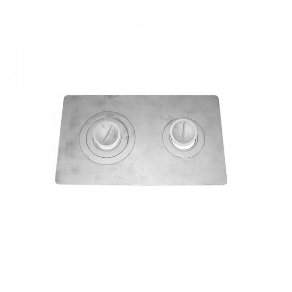 Печное литье плита 2 конфорки П-2-3 (710х410) (Бисер)