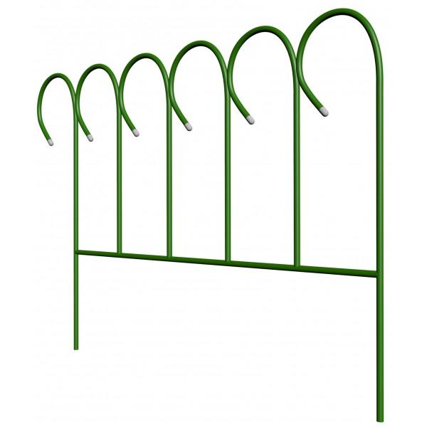 """Заборчик садовый """"Барашек"""" комплект 5шт (высота 0,46м; ширина 0,75м; длина 3,75м; d 10мм)"""
