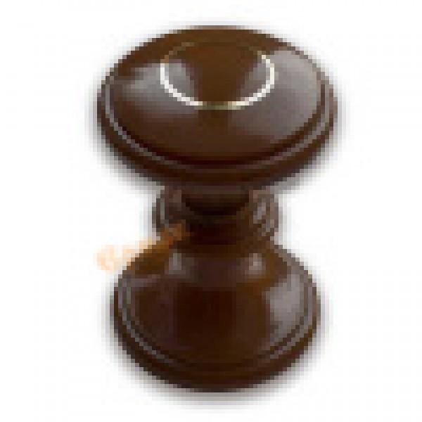 Ручка-стяжка пластм.РДП-01-3 темное дерево с зол.кольцом