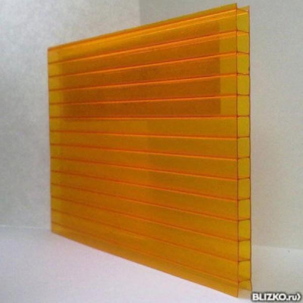 Поликарбонат оранжевый 6000х2100 4мм