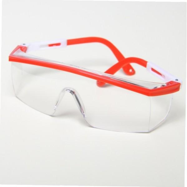 Очки защитные JL-D014 (красные дужки)