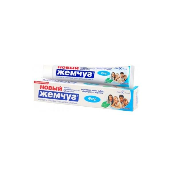 Зубная паста  Новый Жемчуг 100мл Фтор б/ф