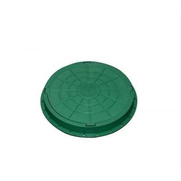 """Люк канализ. 0,8 тонн (зелёный) полимерный """"Садовый"""" рис. ОРНАМЕНТ"""