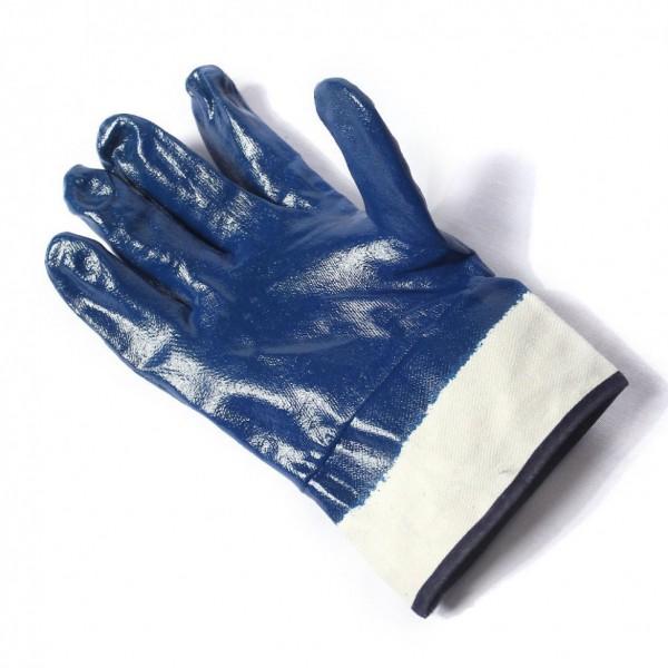 Перчатки х/б прорезин.кислостойкие (синие) ЗИМА      12/360