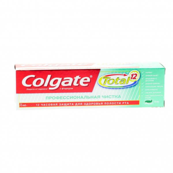 Зубная паста Colgate 75мл Тотал Про Проф.чистка