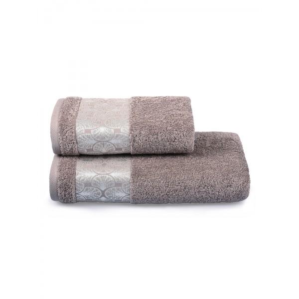 Полотенце махровое Cleanelly Zefiro 420 г/м (70х130) (Россия) цв.391 коричневое