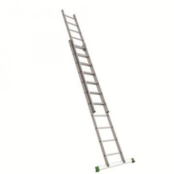 Лестница алюм.двухсекц.2х13 ступ.выс.3,67/6,69 вес 12,15кг стенка проф.1,1мм 67х20мм UFUK Турция
